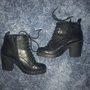 Black Combat Heels